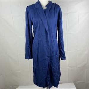 Atmos&Here Blue Long Sleeve Long Cardigan Size 6